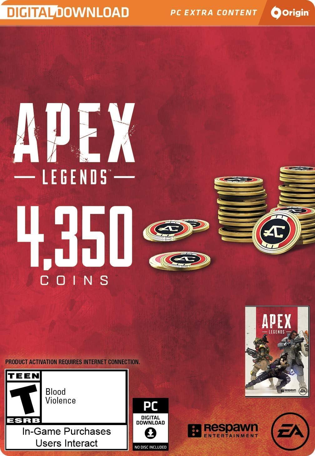 Amazon com: Apex Legends - 4,350 Apex Coins [Online Game