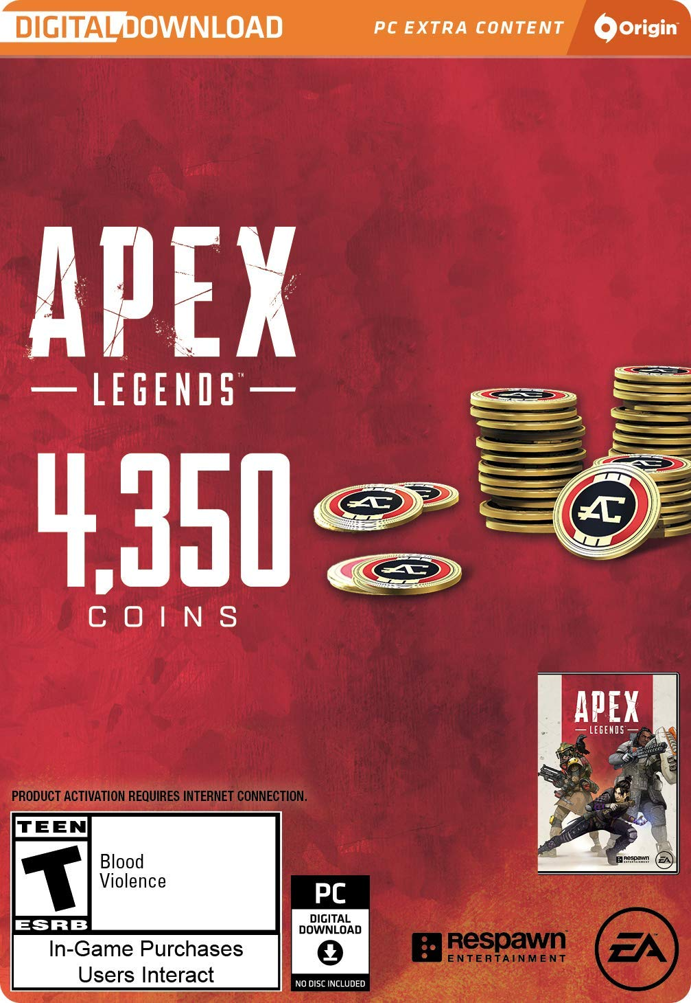Apex Legends - 4,350 Apex Coins [Online Game Code] by Electronic Arts