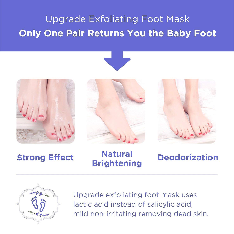 Elobara Foot Peel Mask, Exfoliating Calluses and Dead Skin for Soft Baby  Feet, 2 Pairs, Repair Rough Heels