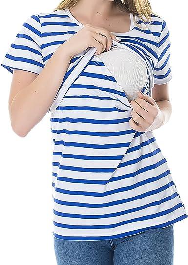 MEIHAOWEI Moda Embarazo Ropa de Maternidad Camiseta de Maternidad Camisa de Lactancia Tops de Enfermería para Mujeres Embarazadas: Amazon.es: Ropa y accesorios