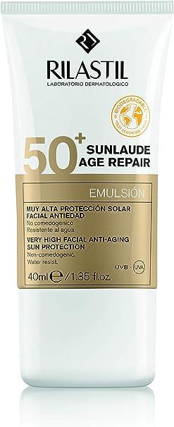 Rilastil Sunlaude - Pack Crema Solar Facial Age Repair SPF 50+ (40 ml) + Sunlaude Comfort 100 (75 ml): Amazon.es: Hogar