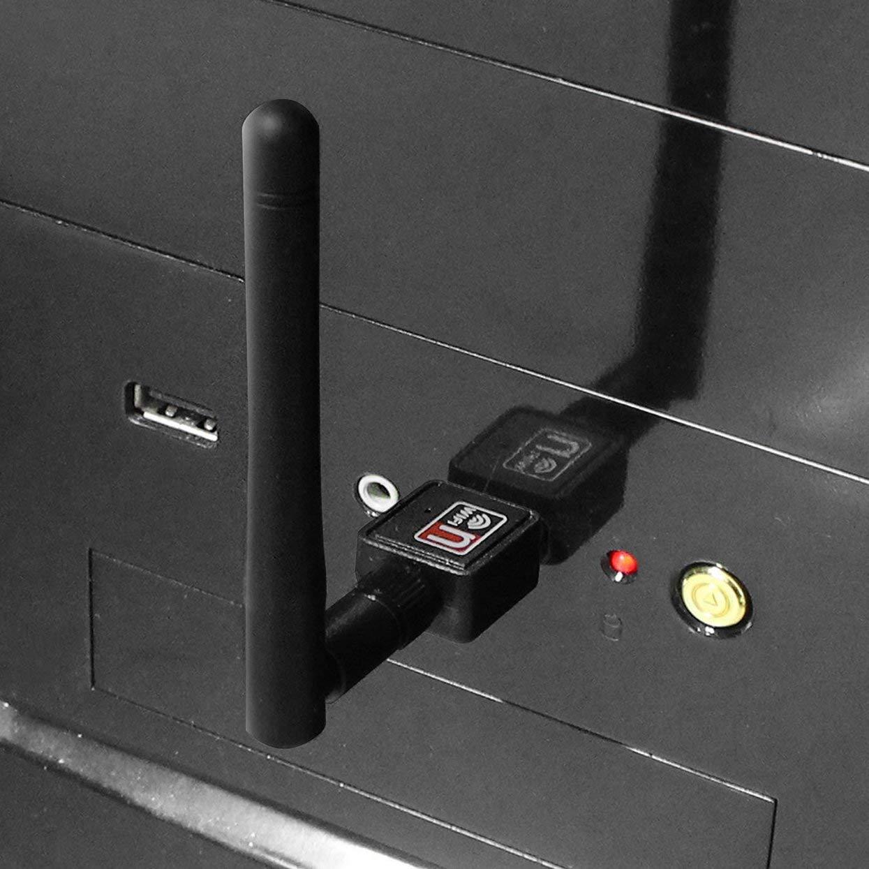 g//b pour Ordinateur PC Tree-on-Life Adaptateur WiFi Externe USB 2.0 de 150M /à 150 Mbits//s avec antenne Mini Carte r/éseau LAN sans Fil Compatible 802.11n