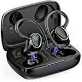 Wireless Earbud, Bluetooth 5.1 Headphones with CVC 8.0 Noise Cancelling, Deep Stereo Bass, Built in Mic and 50H Playtime, Spo