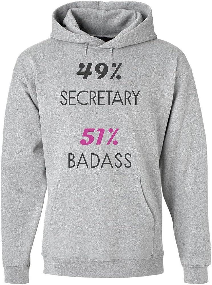 IDcommerce 49/% Secretary 51/% Badass Mens Hoodie Pullover