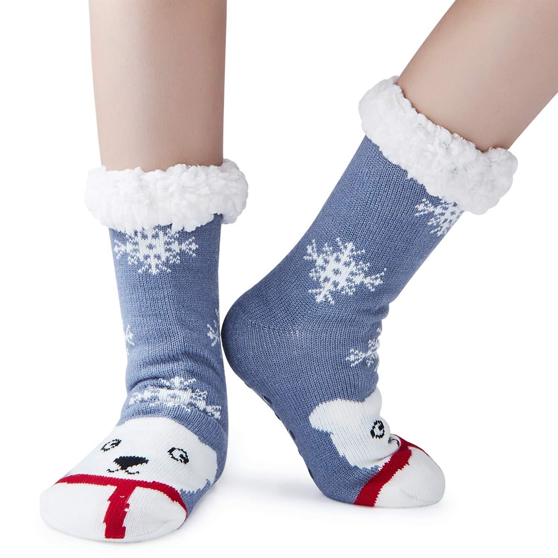 AIDEAONE Wollsocken, Frauen Socken nicht Slip Winter Home Socken für ...