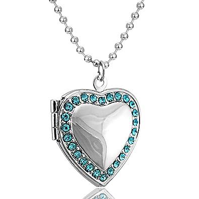 date de sortie: 815d4 2a1d1 Collier avec pendentif en forme de cœur ouvrable pour mettre ...