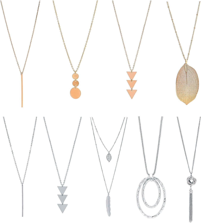 XINBOO 9PCS Long Necklaces...