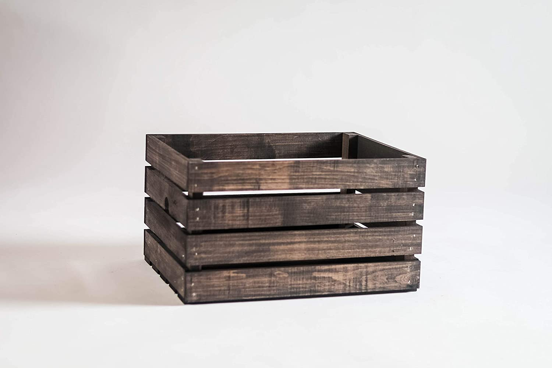 DarlaStudio 66 45 RPM Vinyl Record Storage Wood Crate