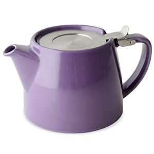 FORLIFE Stump Teapot with SLS Lid and Infuser, 18-Ounce, Purple