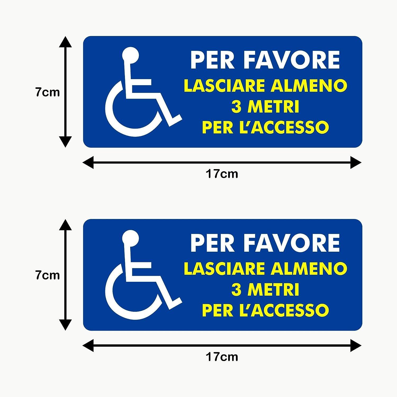 per auto parcheggio Set di 5 adesivi per disabili wc insegna