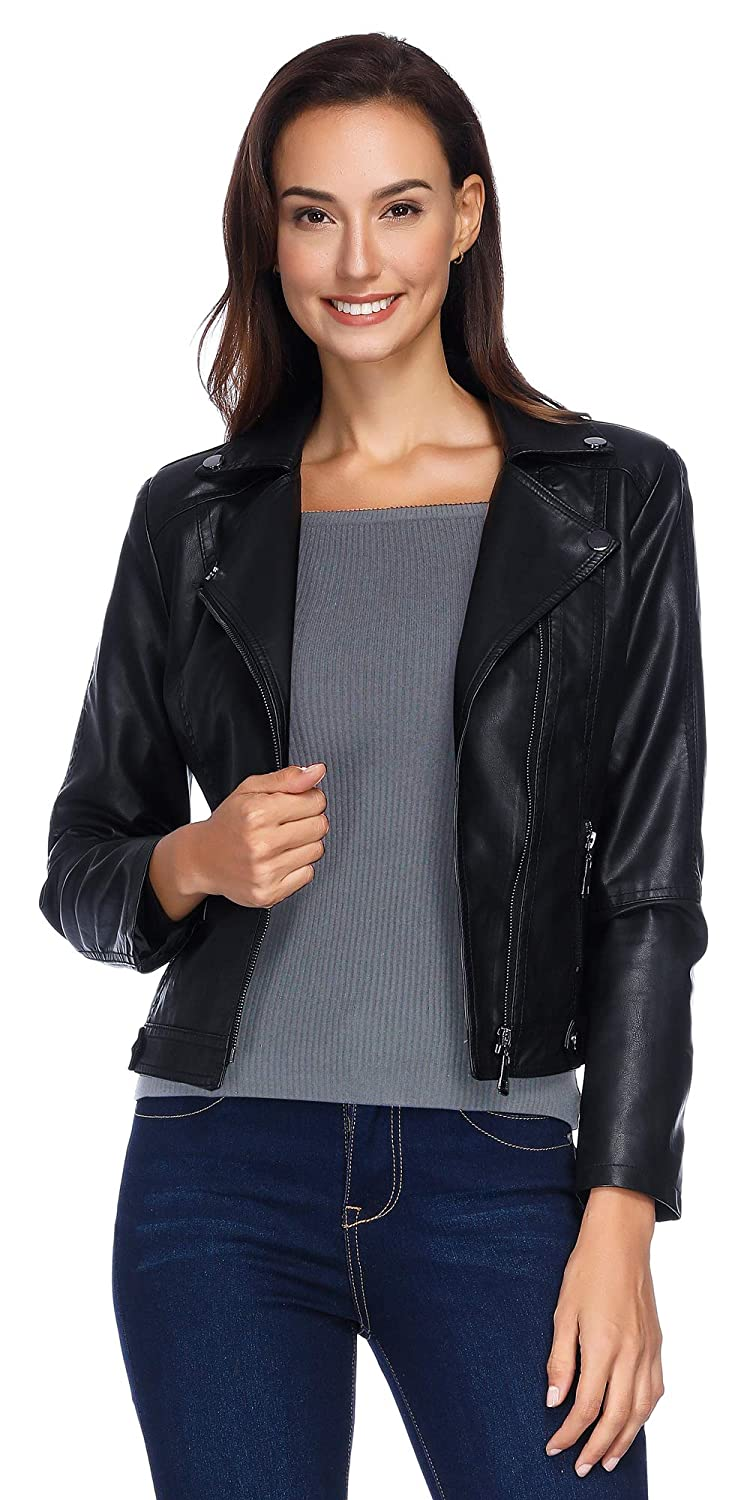 a27b7de7f8fe Women s Faux Leather Jacket