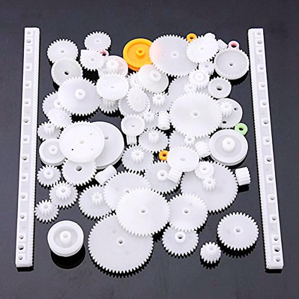 Demino Plastic Gear Bearing Impostare Vari Tipi di Attrezzi Pacchetto Auto Giocattolo Accessori Fai da Te motoriduttore a Vite Senza fine Nastro ASSE boccole