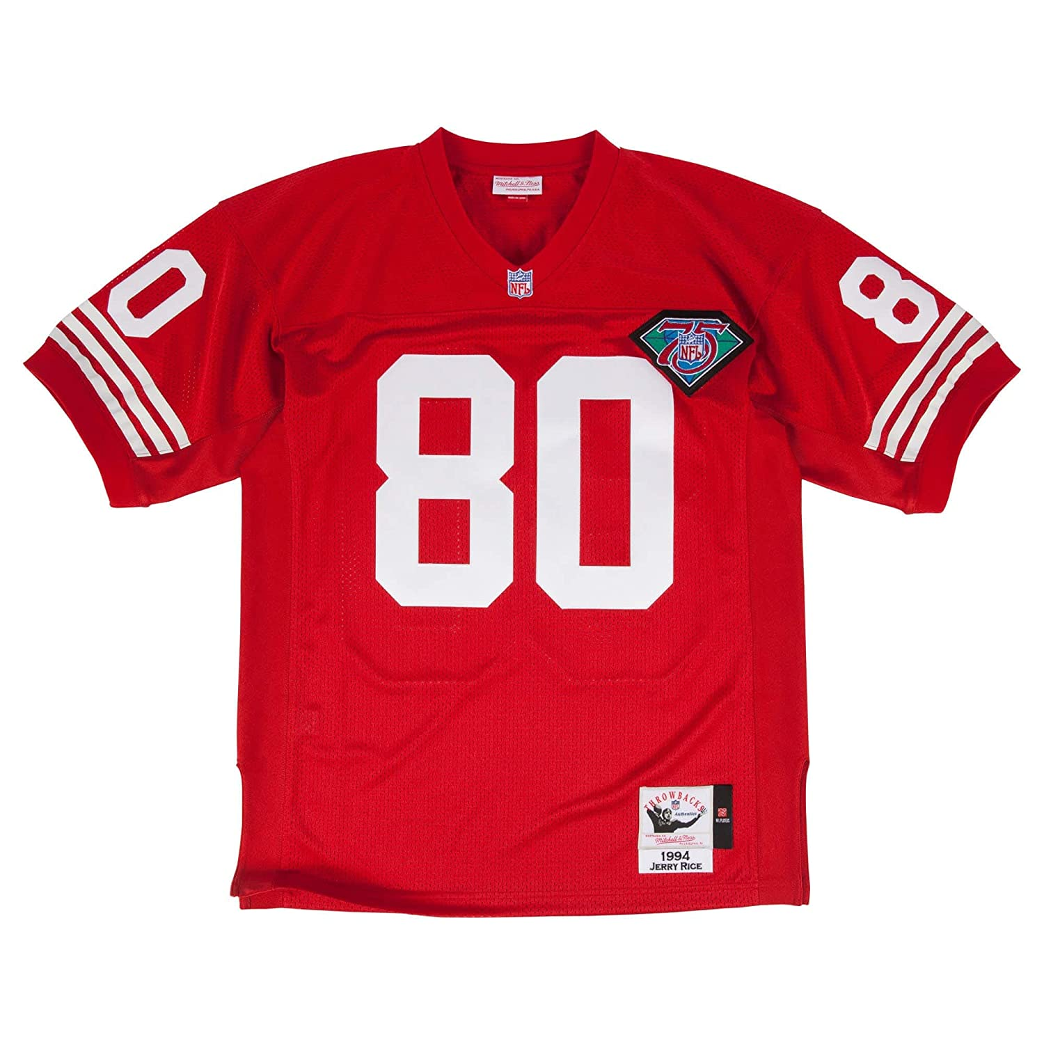 brand new 60e4e dedf9 Mitchell & Ness Jerry Rice 1994 Authentic Jersey #80 San Francisco 49ers Red