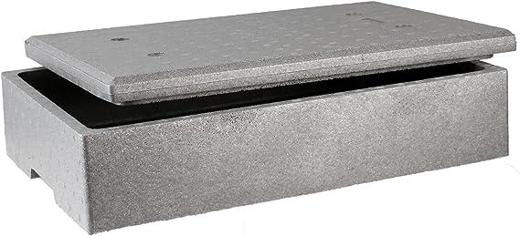 Sebutec neopor poliestireno Caja con tapa 60 x 40 x 15 cm: Amazon ...