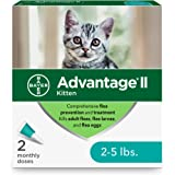Advantage II 2-Dose Flea Treatment and Prevention for Kittens, 2-5 Pounds