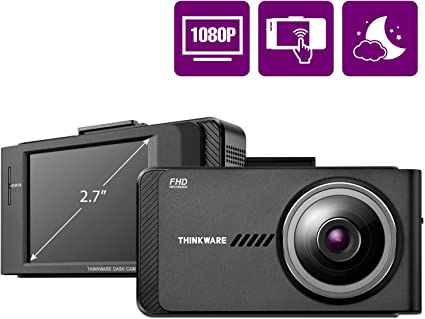 Renewed Thinkware F800 Pro Dash Cam Front 1080P Full HD Sony Starvis Super Night Vision GPS Power Cable Wi-Fi 32GB MicroSD Card Optional Parking