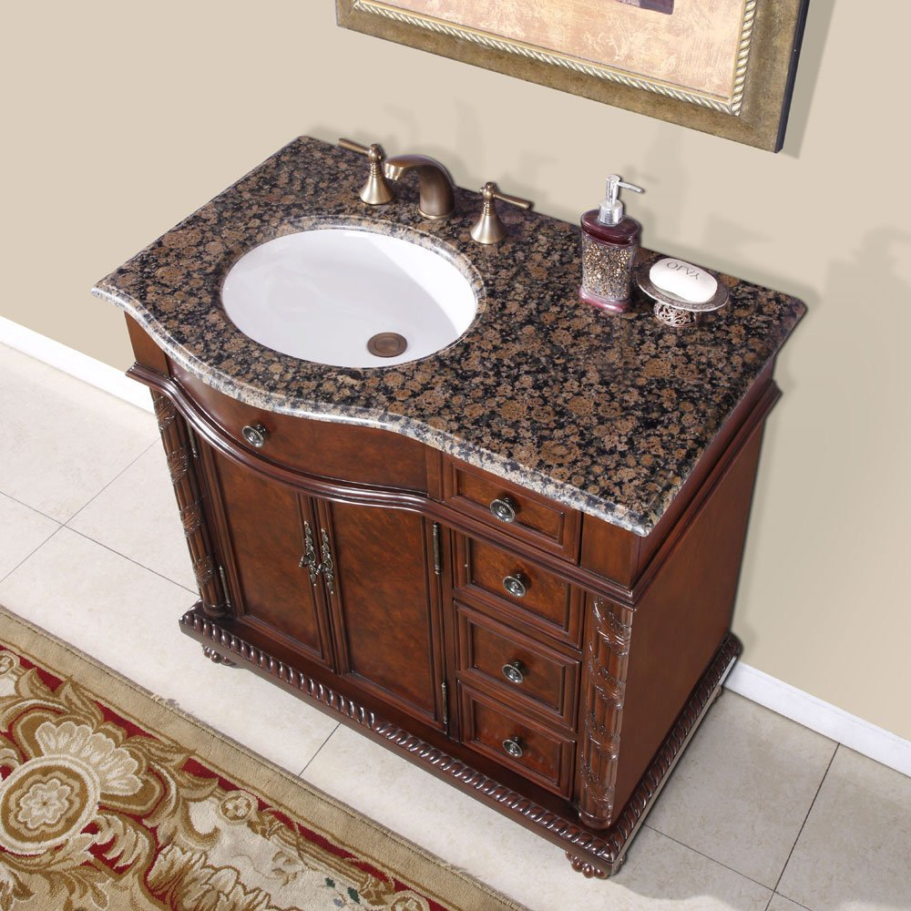 Silkroad Exclusive HYPBBUWCL Victoria Left Side - Bathroom vanity with sink on right side