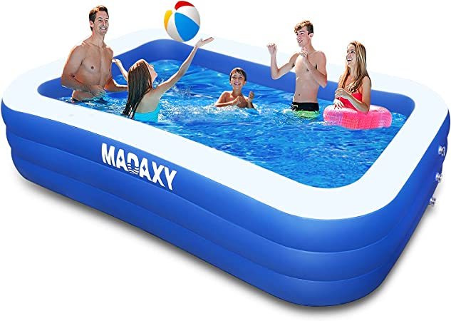 Inflatable Pool, MADAXY Swimming Pool for Kids and Adults, 120