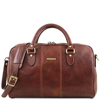 Tuscany Leather Lisbona Sac de Voyage en Cuir - Petit modèle Marron ... 44643bfe44a