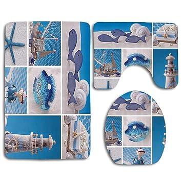 Amazon.com: EnmindonglJHO Marine Theme Design Objects Fishes ...