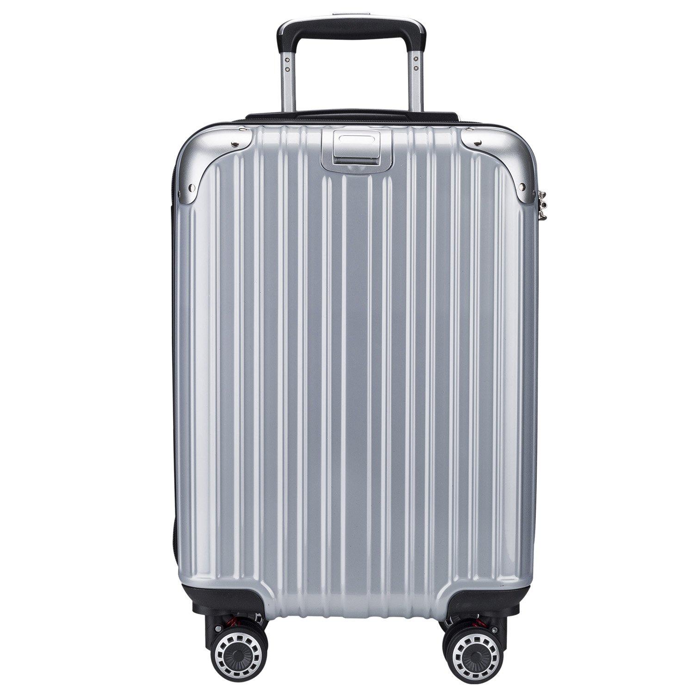 OTT スーツケース 超軽量 TSAロック搭載 Wファスナータイプ B077W9B378 Mサイズ(5~7泊/4.5KG/60L)|シルバー シルバー Mサイズ(5~7泊/4.5KG/60L)