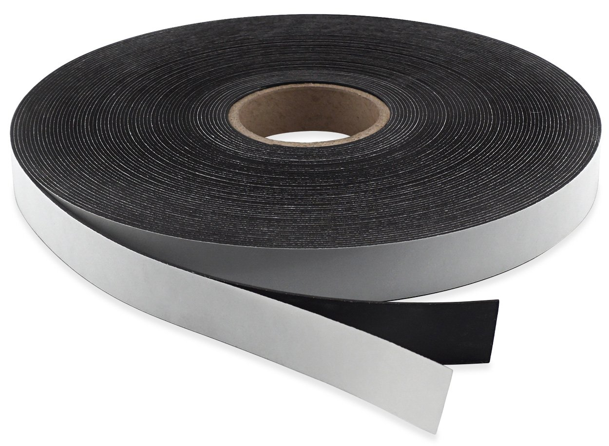 Master Magnetics Flexible Magnet Strip with Adhesive Back , 1/16'' Thick, 3/4'' Wide, 100 feet (1 Roll)