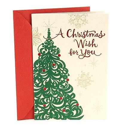 Amazon Hallmark Mahogany Christmas Card Tree Wish Office Products