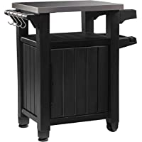 Keter Unity Indoor Outdoor BBQ Table/Prep Station (Graphite)