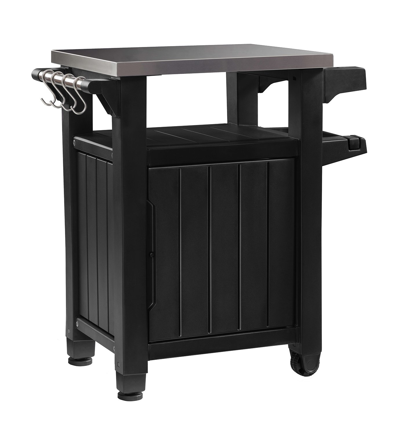 Keter 230852 Unity Bbq Cart Prep Table, Graphite