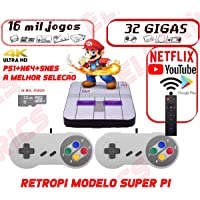 Video Game Retrô 16.000 Jogos + 32gb 2 Controles