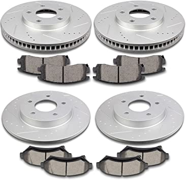 Front Ceramic Discs Brake Pads For 1997 1998 99 00 01 02 03 04 Cadillac Seville