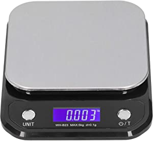 TOPINCN High‑Accuracy Digital Scale Non‑Slip Pad Portable Electronic Kitchen Scale Food Measuring Weight Tool g/lb/oz(#2)