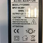 TOP CHARGEUR /® Adaptador Alimentaci/ón Cargador Corriente 12V 5V 2A 4 Pin Reemplazo Recambio Disco Duro Multimedia Wattac BA0362ZI-8-A02