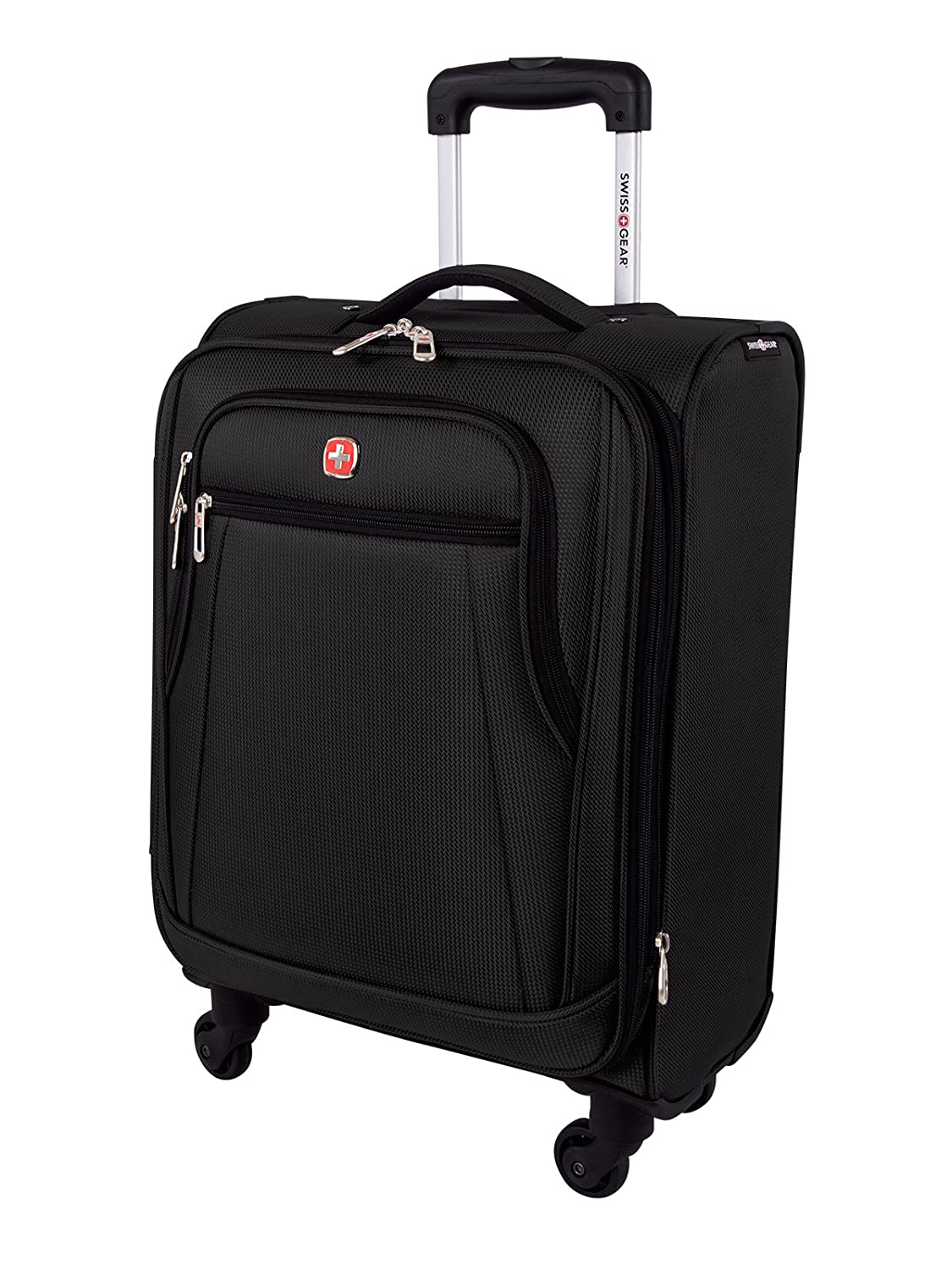 Swiss Gear Cross Country International Carry-on - Expandable Spinner Luggage 20-Inch, Black Holiday Luggage SW49170009