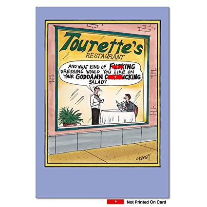 Amazon Tourettes Restaurant Unique Funny Birthday Card With Envelope 7724 Cards Office Products