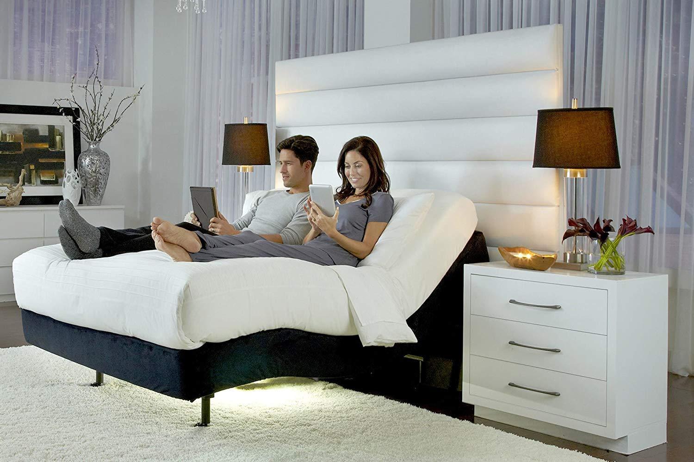2019 Prodigy 2.0 Plus Split King Adjustable Bed Base Frame Individual Lumbar 10 Luxury Cool Gel Memory Foam Adjustable Beds And Mattress By Nature s Sleep King Split