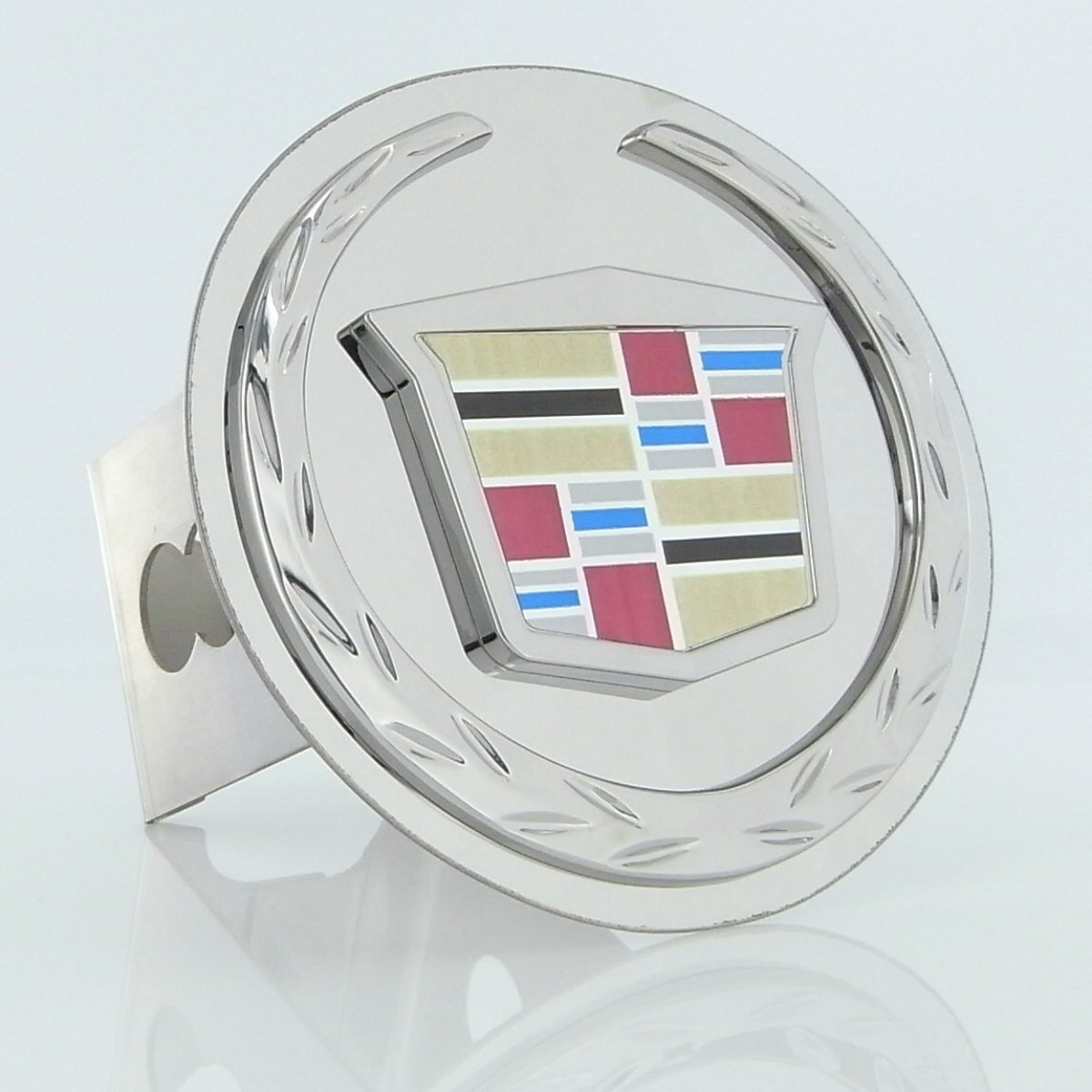 Cadillac Chrome Logo Tow Hitch Cover Plug - New Logo Au-tomotive Gold T.CAD2.C