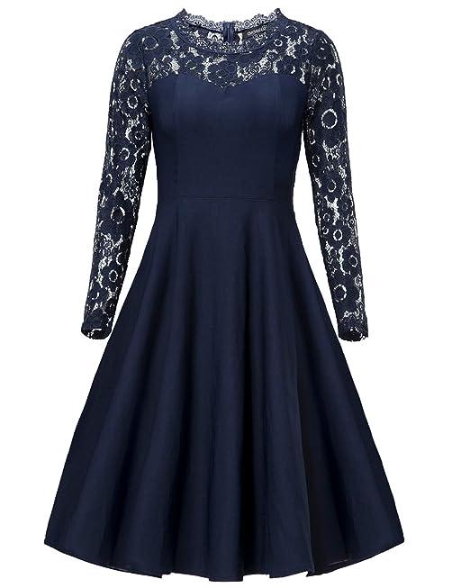Gigileer–Vestido de puntilla de fiesta para mujer, falda hasta