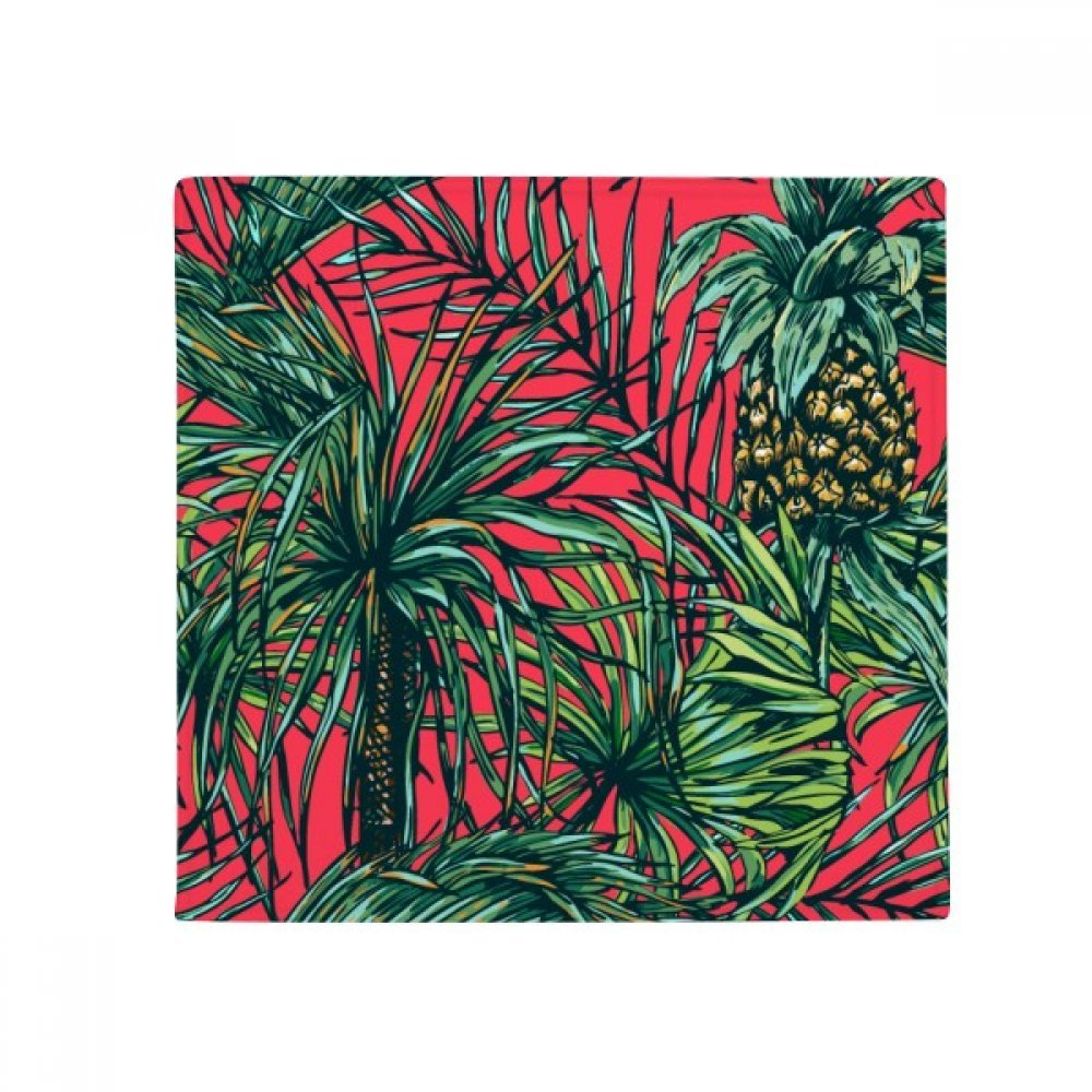 DIYthinker Pineapple Plant Leaf Red Sky Anti-Slip Floor Pet Mat Square Home Kitchen Door 80Cm Gift