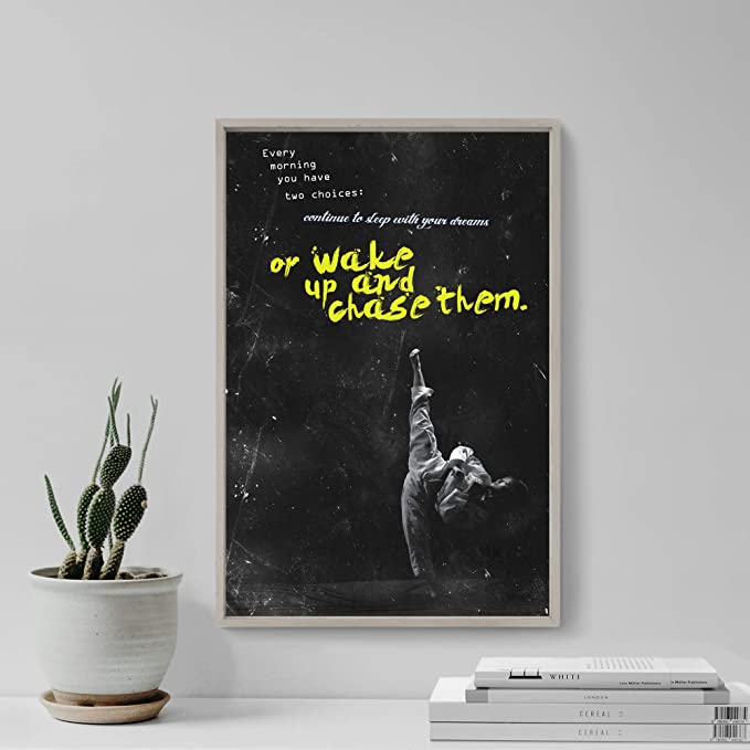 """JUDO MOTIVATIONAL PHOTO PRINT 09 /""""WAKE UP AND CHASE/"""" MOTIVATION QUOTE POSTER"""