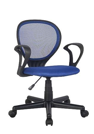 Chaise De Bureau Bleu Noir H 2408F 2059