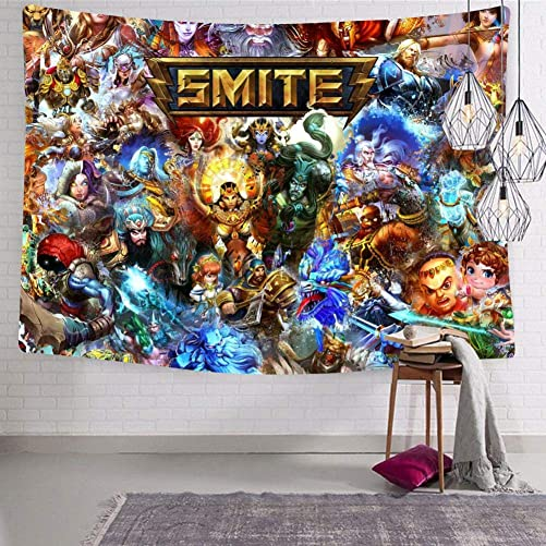 NJLLOS Tapestry Wall Hanging Sm-ITE Print Wall Tapestry for Living Room Bedroom Dorm Decor 70.9 x 92.5
