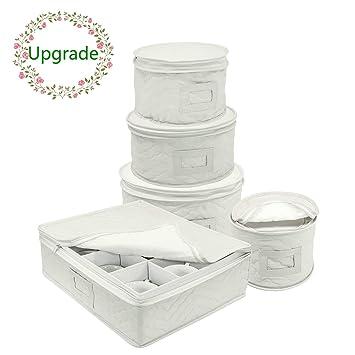 Amazon.com: Juego de tazas y platos chinaware más gruesos de ...