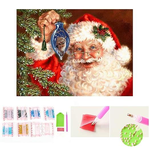 TONVER 5D Kit de pintura de diamantes, mosaico diamante dibujo Navidad paisaje artes manualidades bordado punto de cruz Kit de decoraciš®n de pared para ...