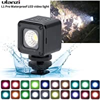 ULANZI L1 Pro 10m Waterproof LED Video Light - Vlog Dimmable Fill Light on Camera with 20pcs Color Filters for Yuneec Drones DJI Osmo Pocket Osmo Action Gopro 7/6/5 Sony DSLR Camera