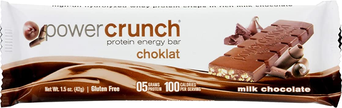 Amazon.com: Potencia Crunch Bar – Chocolate Milk – Caso de ...