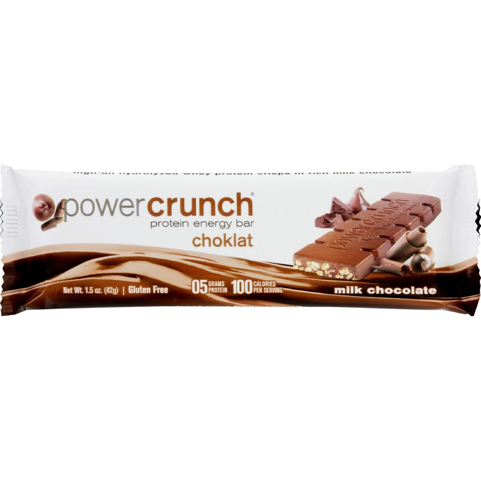 Power Crunch Bar - Chocolate Milk - Case of 12 - 1.4 oz by Power Crunch
