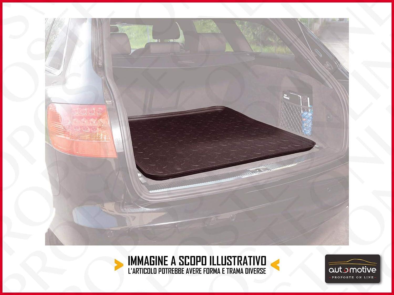 Proposteonline Vasca Tappeto Copertura Multiuso per Baule Bagagliaio Auto Nera Compatibile con Ford Edge 5 Porte dal 2016 in Poi 4012