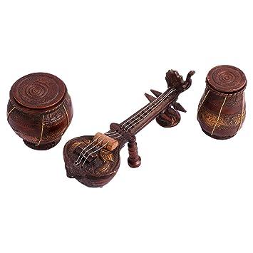 Buy Utsav Kraft Brass Antique Musical instruments Showpiece Set of