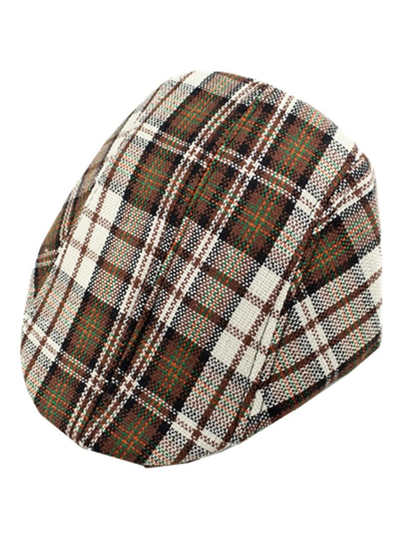 49383a4e YICHUN Kids Classic Plaid Visera Sombrero de béisbol Cap Boina soporte de  Duckbill Cap Durable Modelando